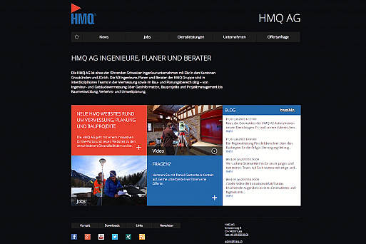 HMQ-Website, Portal Screenshot